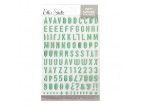 EllesStudio DocumentDecember2019 Green Polka Dot Puffy Alphabet Stickers 01