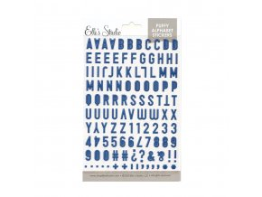 Elles Studio July 2020 Navy Puffy Alphabet Stickers