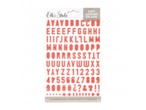 Elles Studio February 2020 Coral Puffy Alphabet Stickers