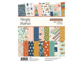 simple stories safe travels 6x8 inch paper pad 148