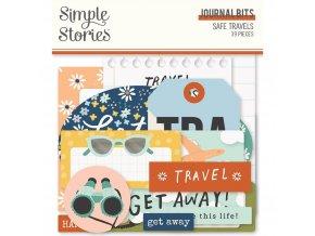 simple stories safe travels journal bits 14817