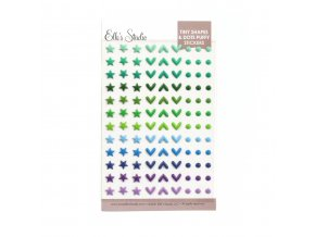Elles Studio March 2021 Tiny Shapes and Dots Puffy Stickers Cool Tones