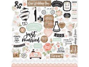 OW224014 Our Wedding Sticker Sheet