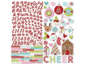9135 mistletoe kisses stickers