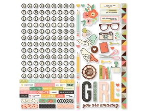 9216 the reset girl combo cardstock stickers