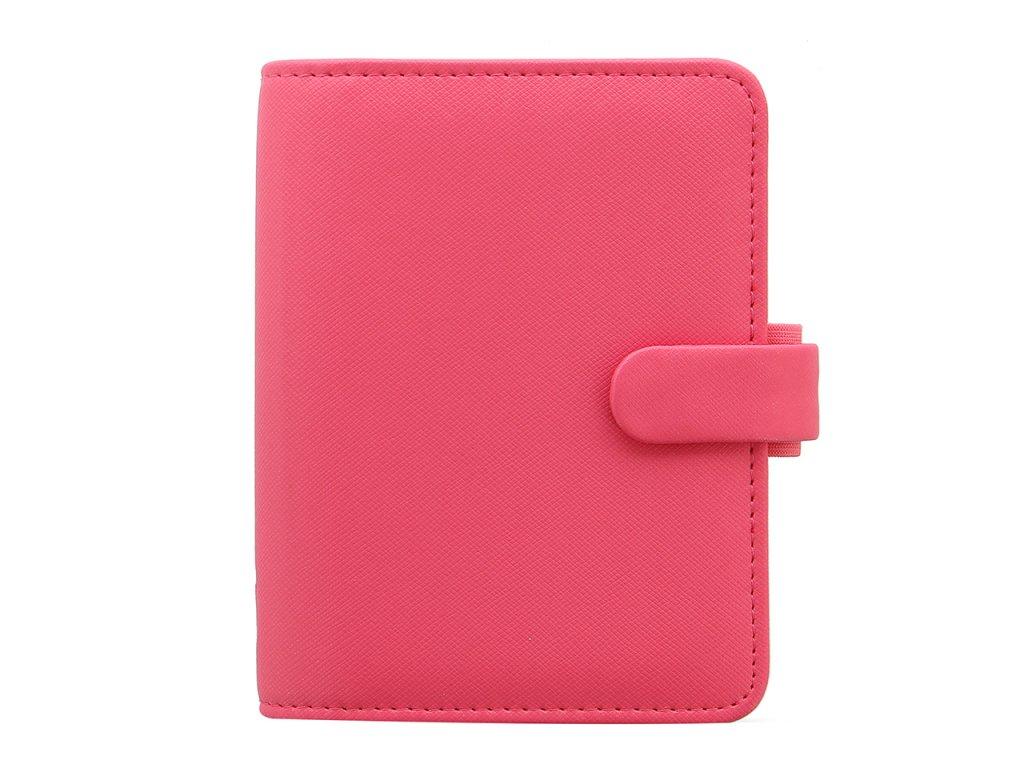 028765 Saffiano Pocket Organiser Peony2