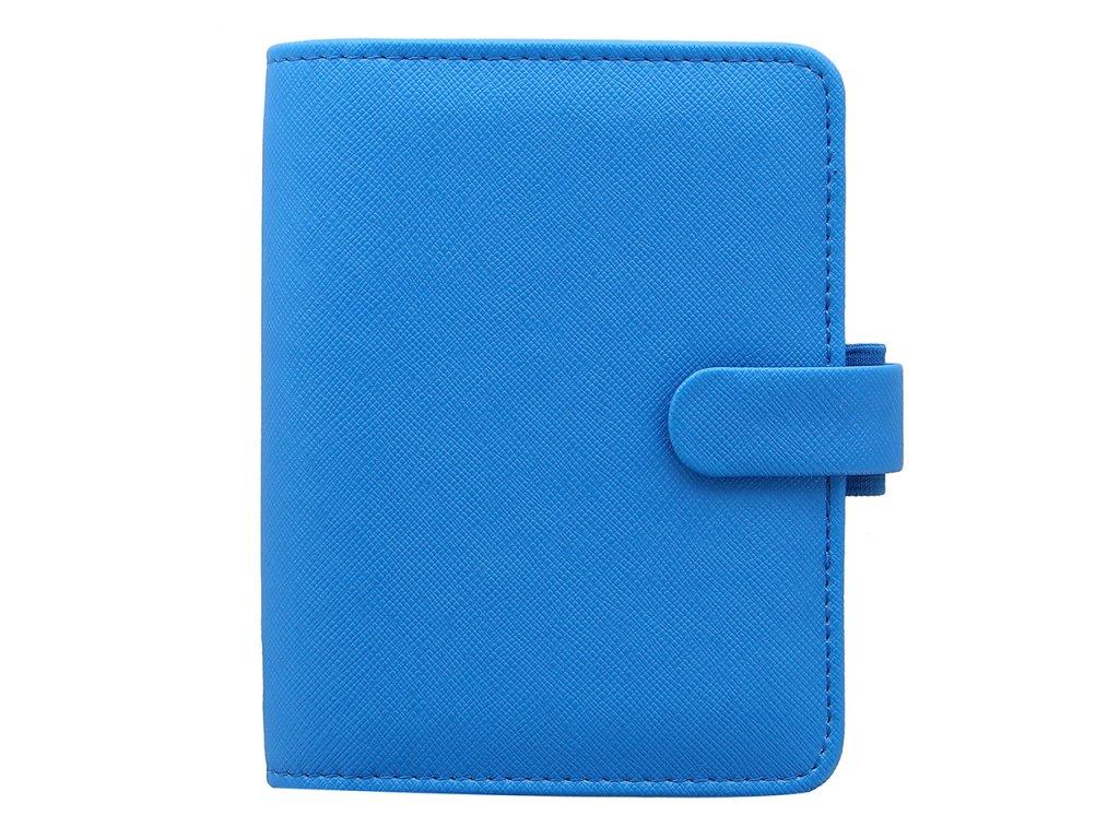 028767 Saffiano Fluoro Pocket Organiser Blue2