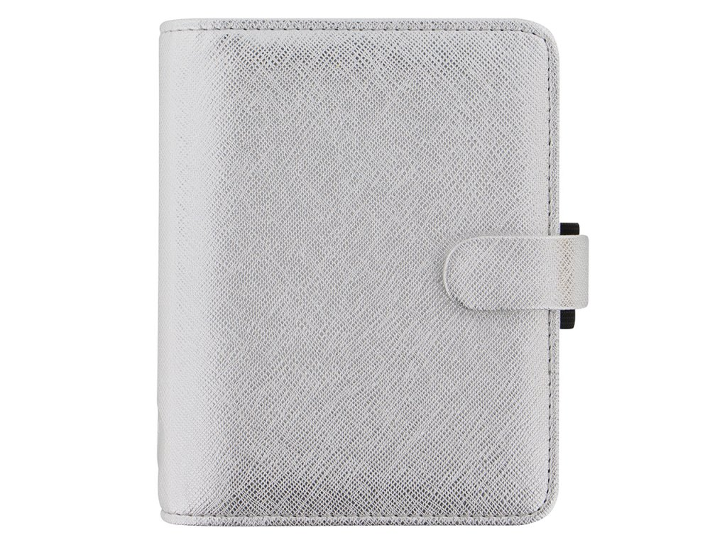 028755 Saffiano Metallic Pocket Silver2