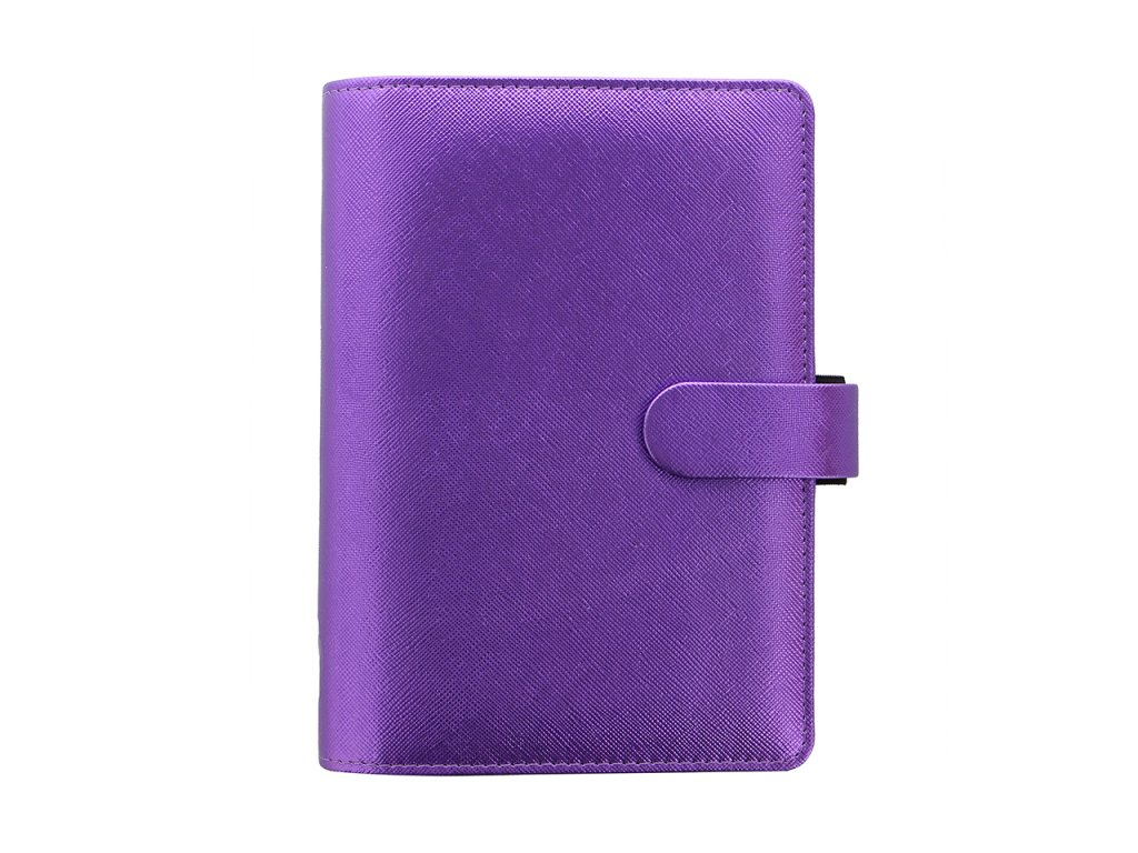 028769 Saffiano Metallic Personal Organiser Violet2