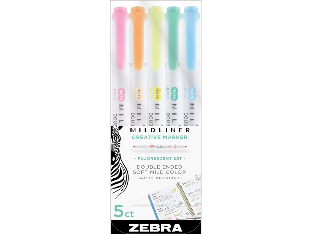 zvyraznovace zebra mildliner fluorescent paperlovecz