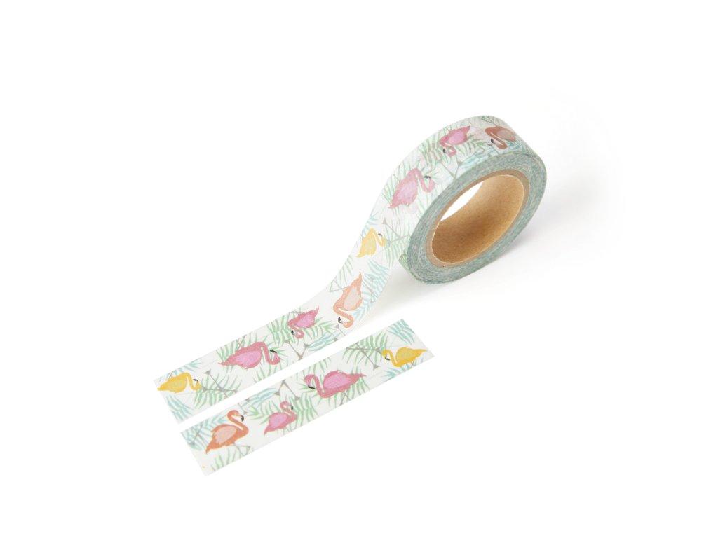 Washi páska - Plameňáci