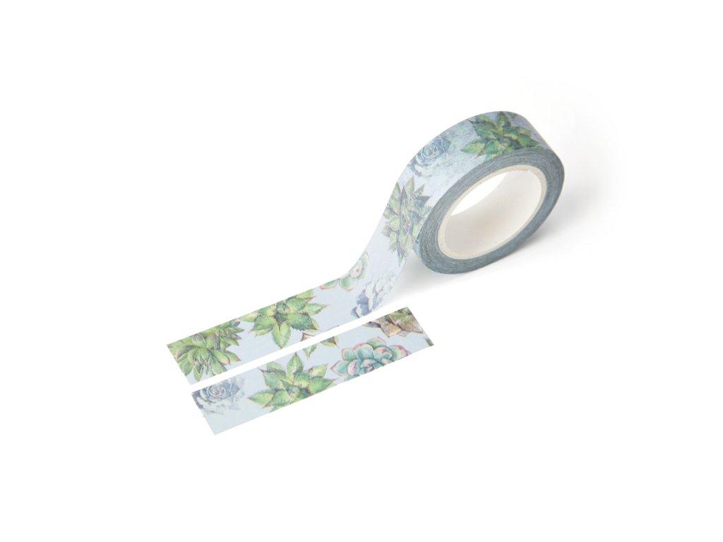 Washi páska - Sukulenty