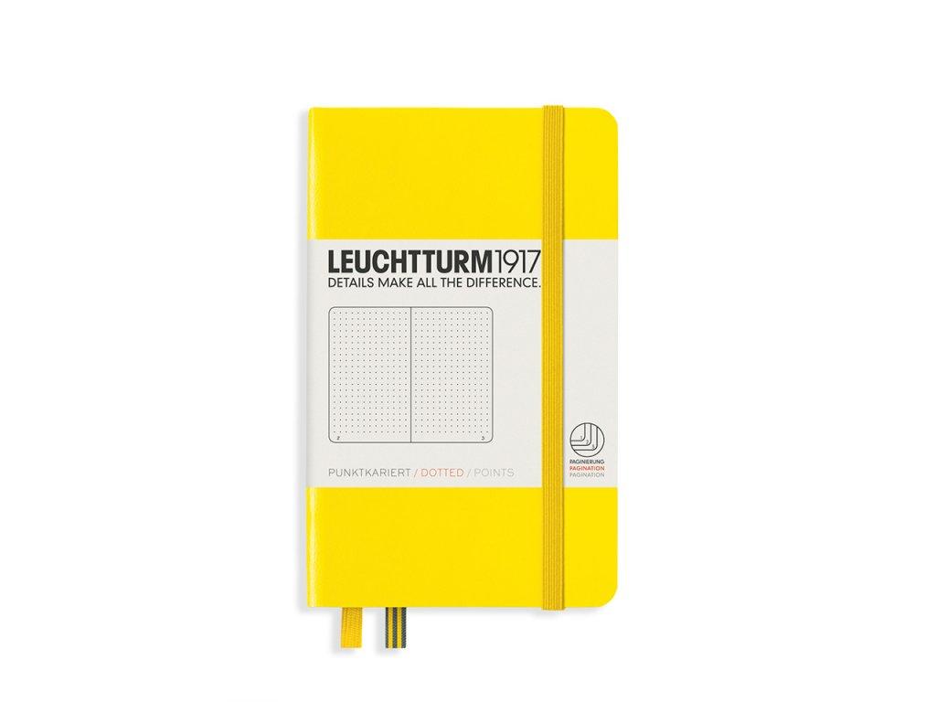 Tečkovaný zápisník Leuchtturm1917 Pocket Lemon