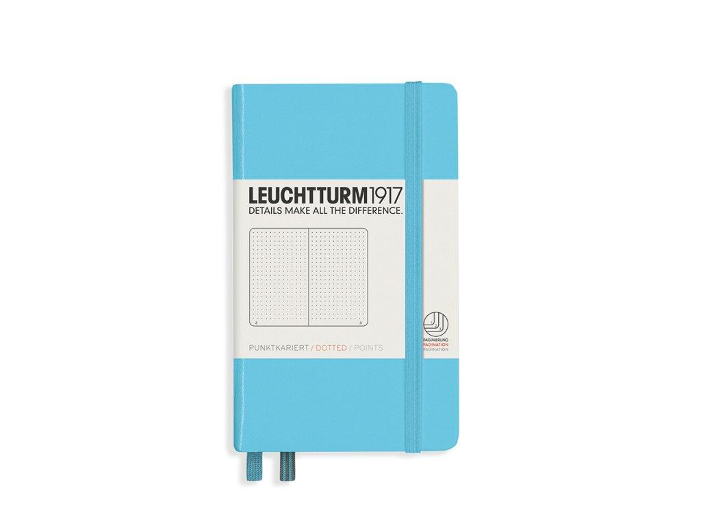 Tečkovaný zápisník Leuchtturm1917 Pocket Ice Blue
