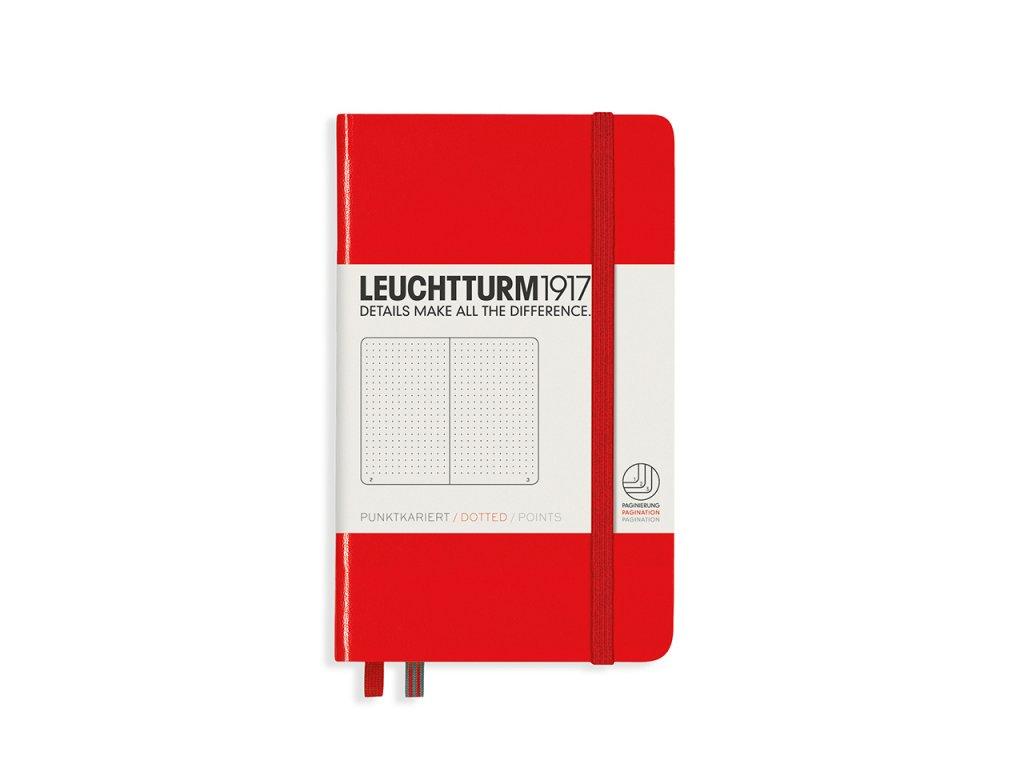 Tečkovaný zápisník Leuchtturm1917 Pocket Red
