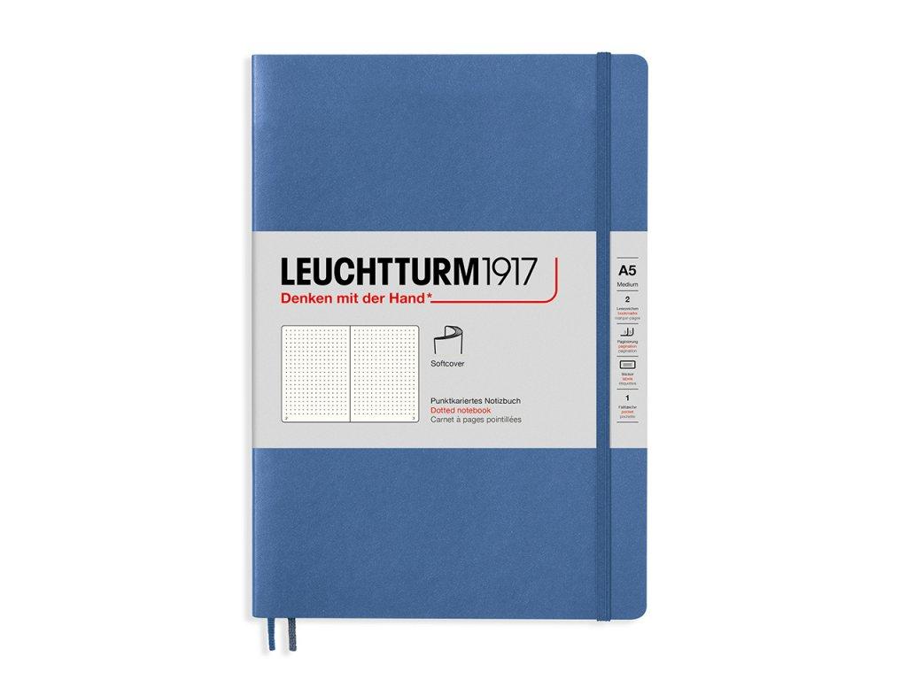Tečkovaný zápisník Leuchtturm1917 Medium Denim (měkké desky)