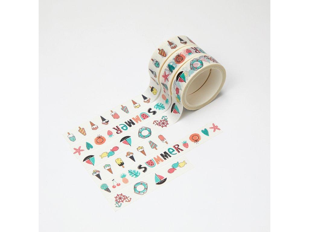 Sada 3 washi pásek - Léto