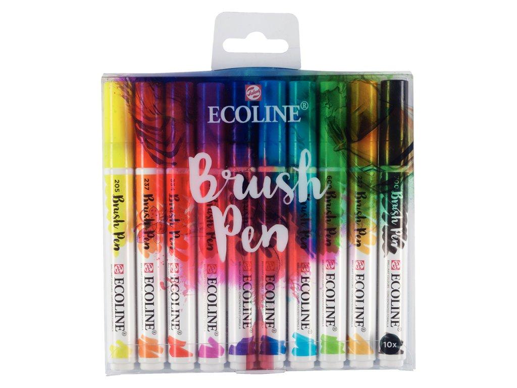Ecoline brush pen sada 10kusu