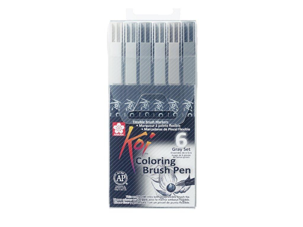 sakura koi coloring brush pen sada 6ks paperlove