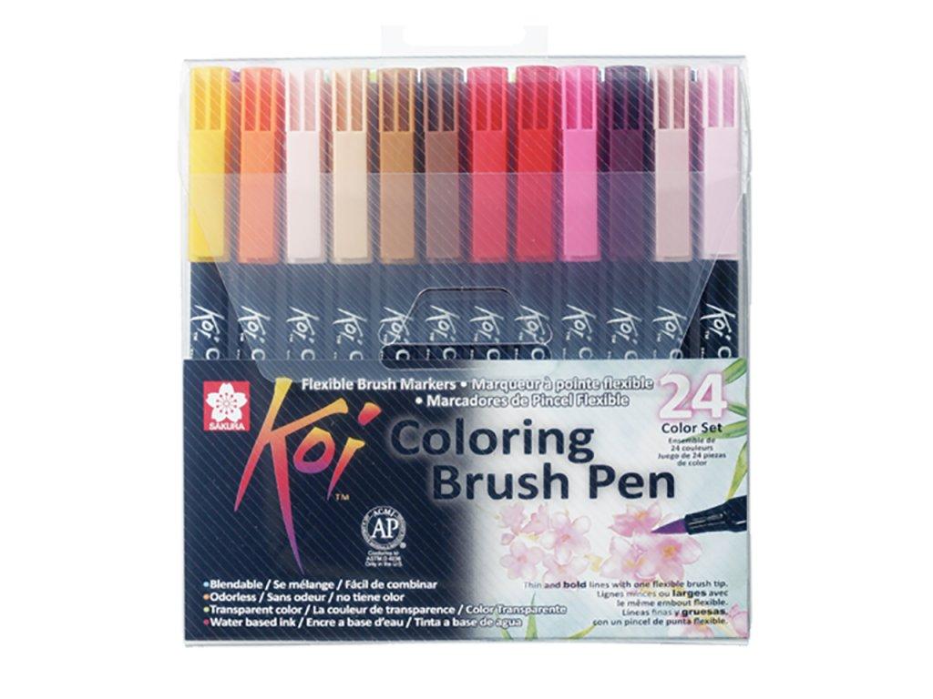 sakura koi coloring brush pen sada 24ks paperlove