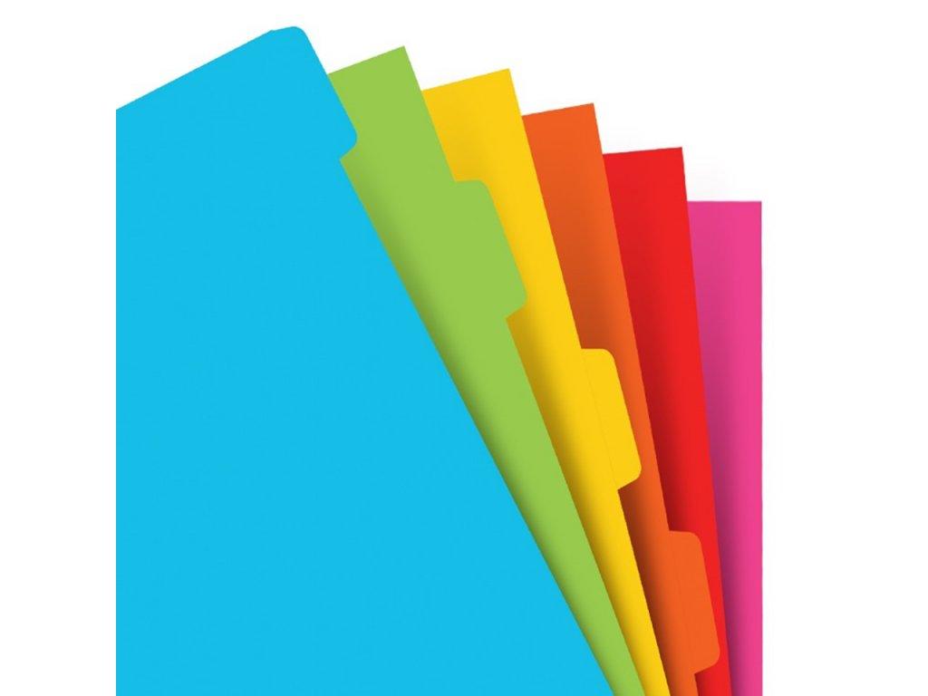 Filofax barevné rozdělovače do diáře - 6ks