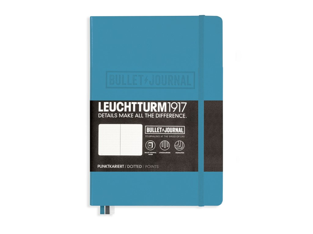 bullet journal leuchtturm1917 teckovany medium nordic blue