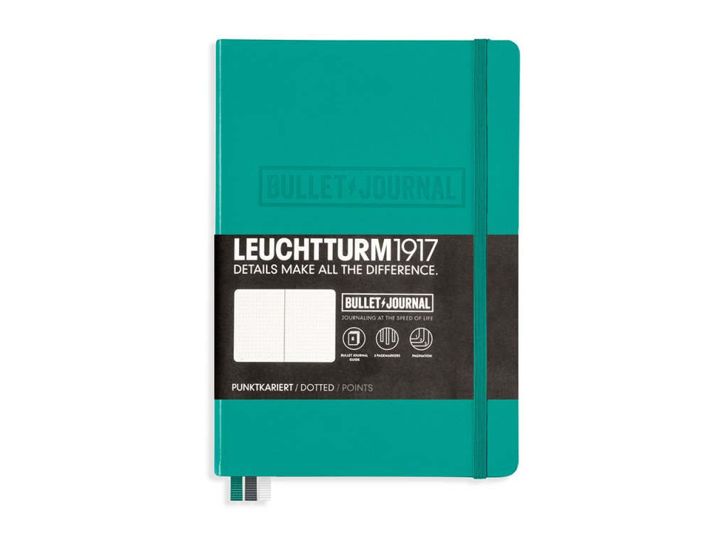 bullet journal leuchtturm1917 teckovany medium emerald