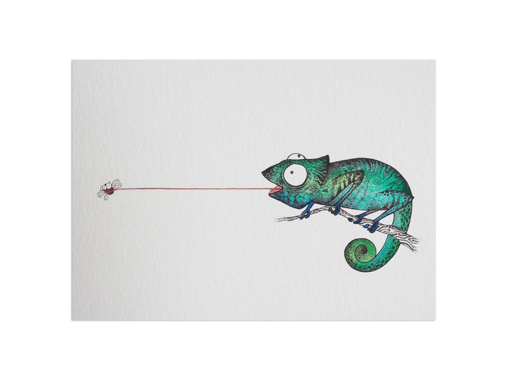 pohlednice ligarti chameleon