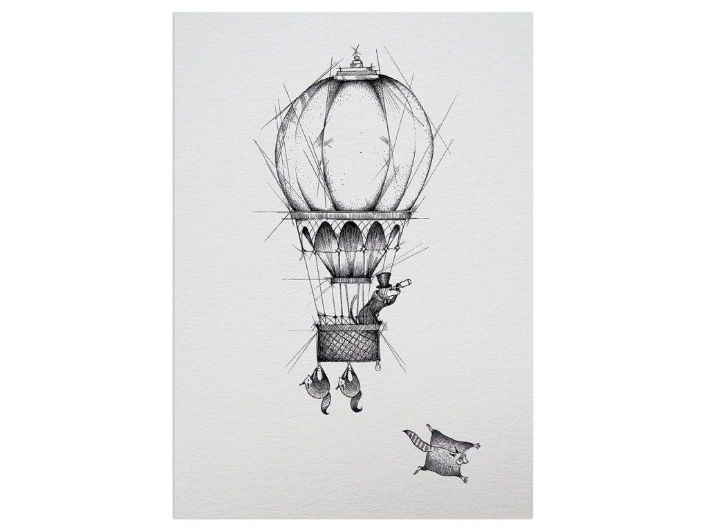 pohlednice ligarti vzduchoplavec