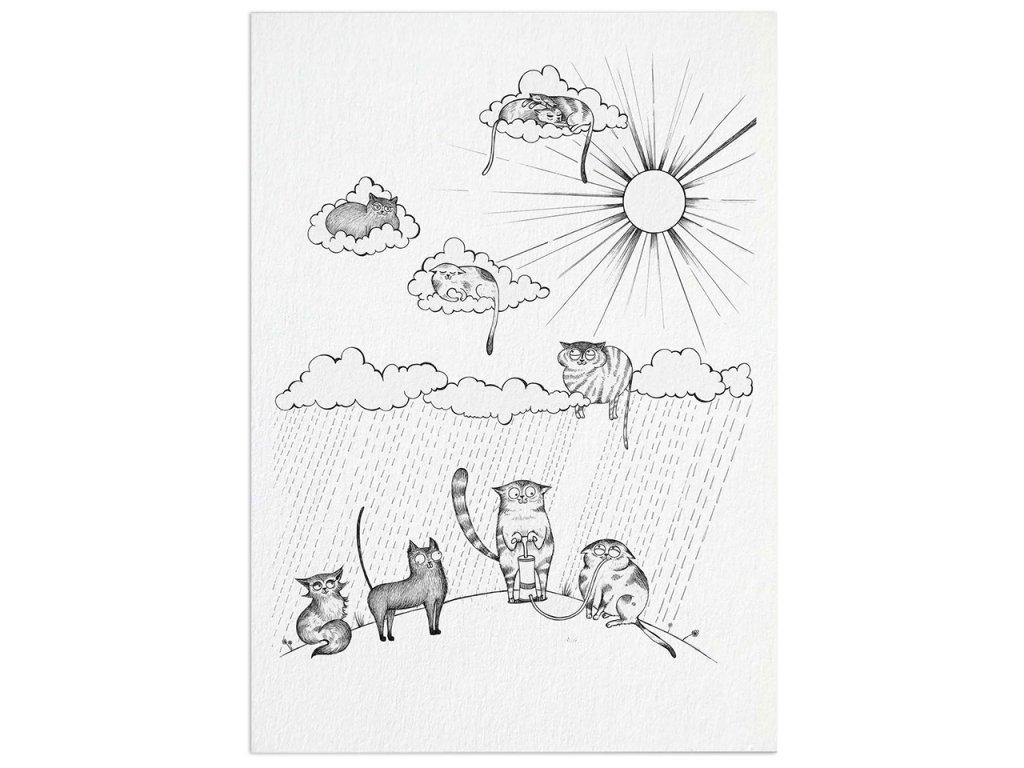 pohlednice ligarti letajici kocky