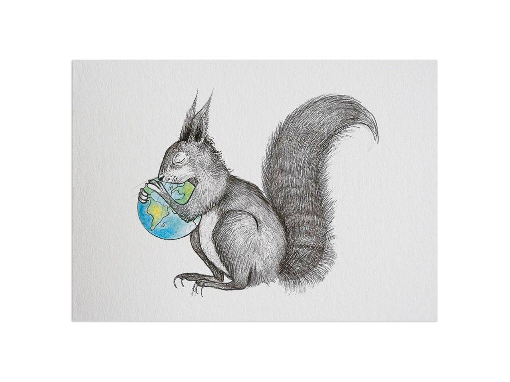 pohlednice ligarti veverci svet
