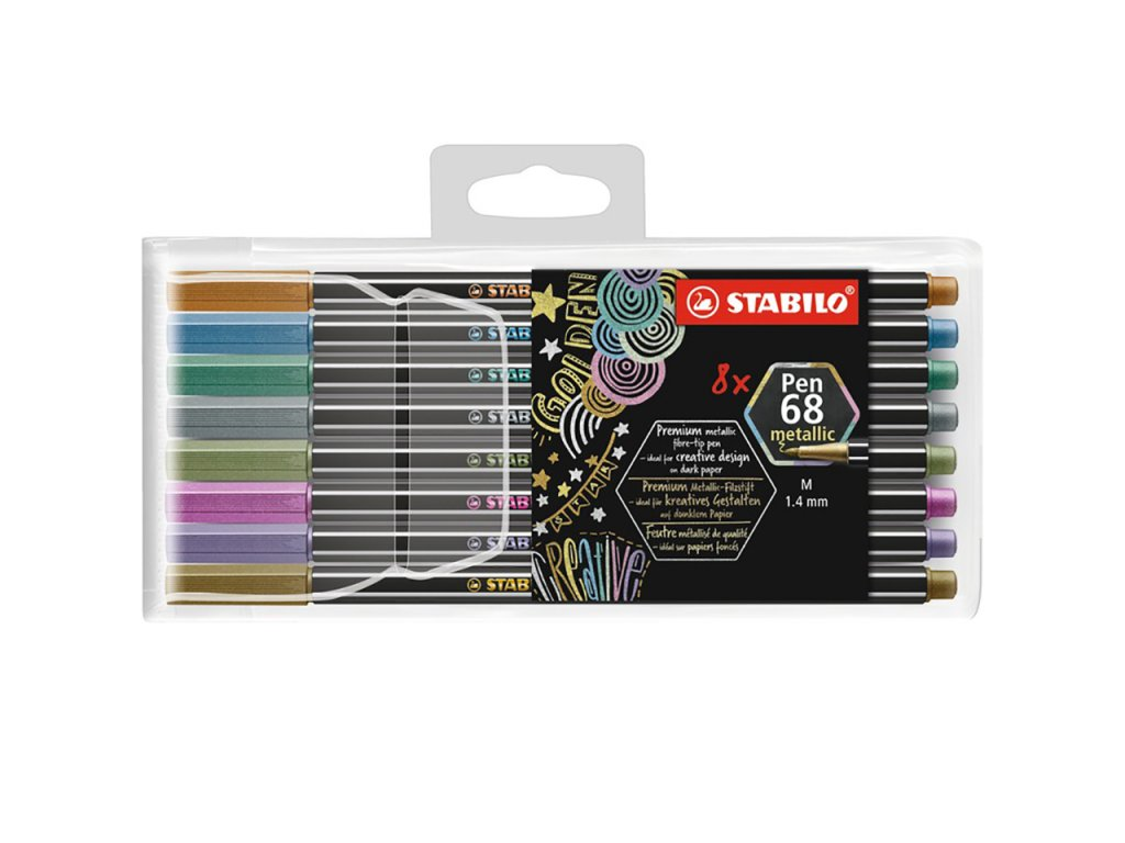 stabilo pen 68 metallic sada 8ks