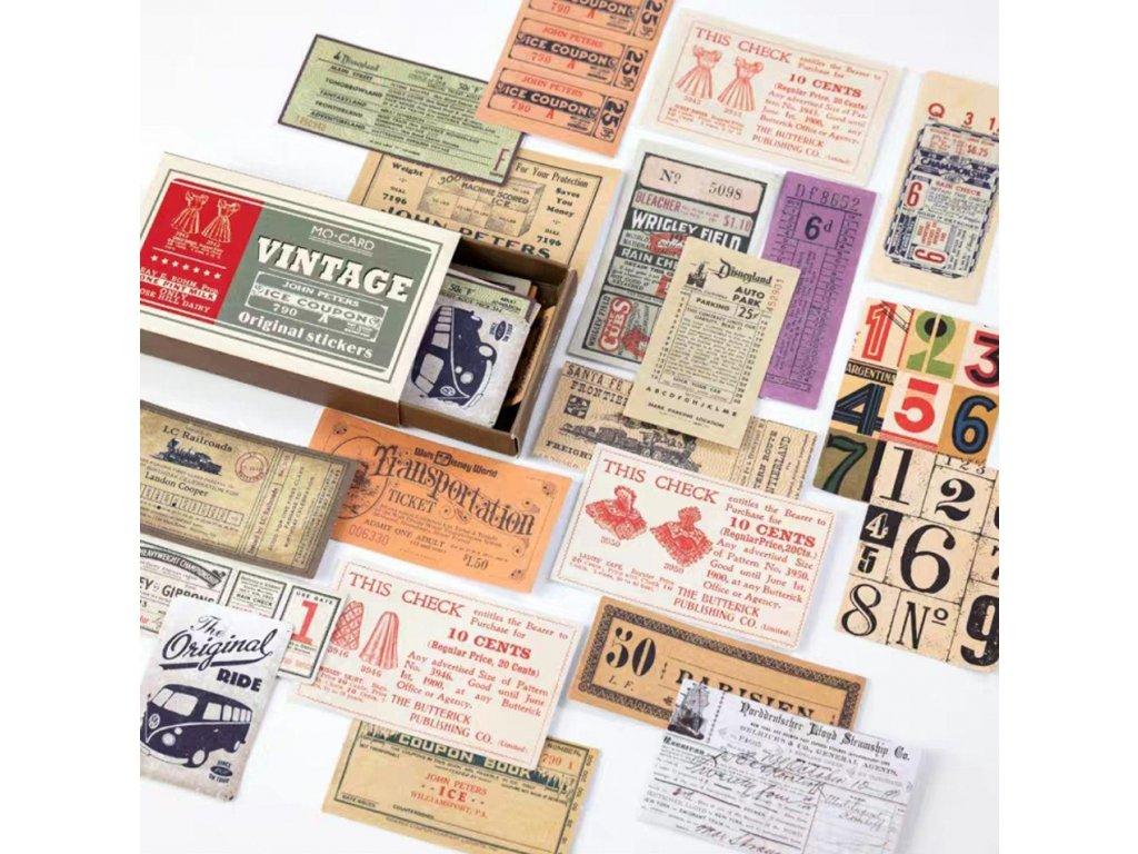 samolepky vintage 1 paperlove