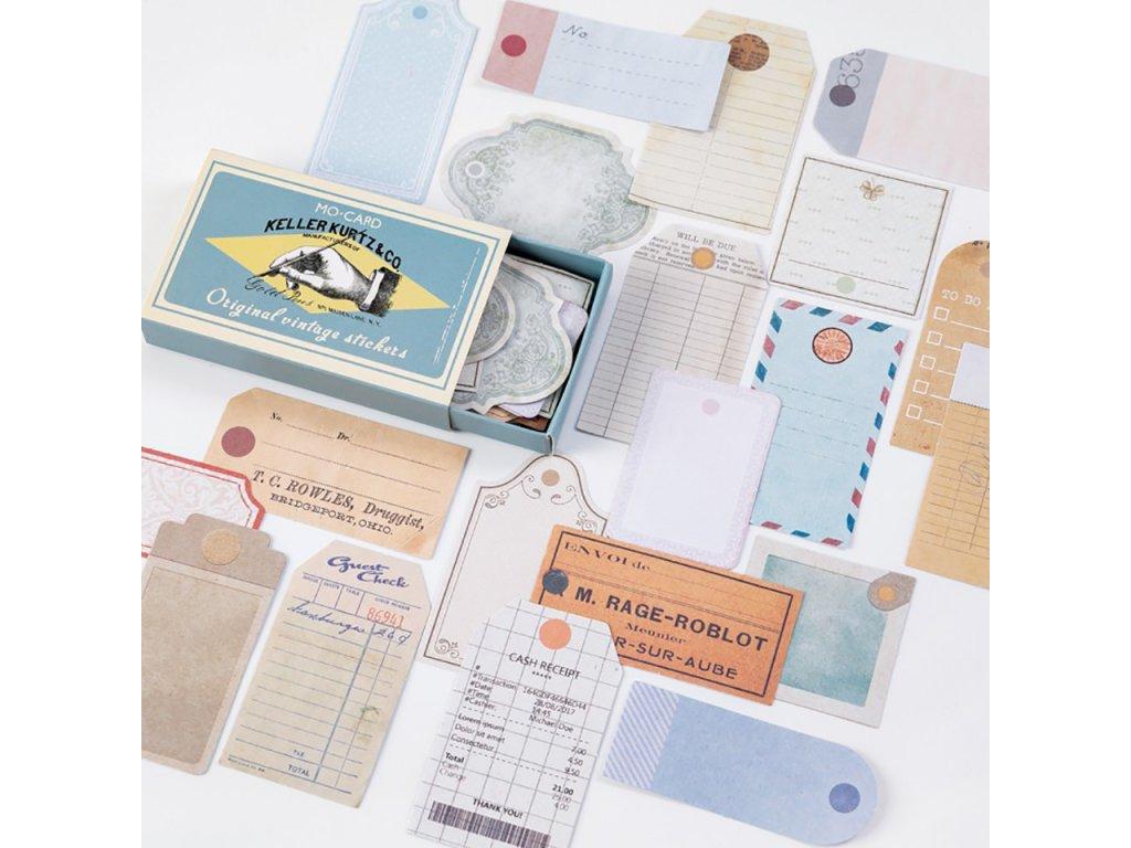 samolepky vintage 3 paperlove