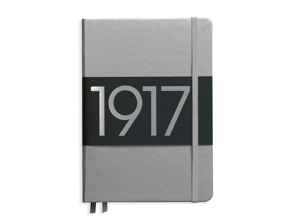teckovany zapisnik leuchtturm1917 metallic medium a5 silver