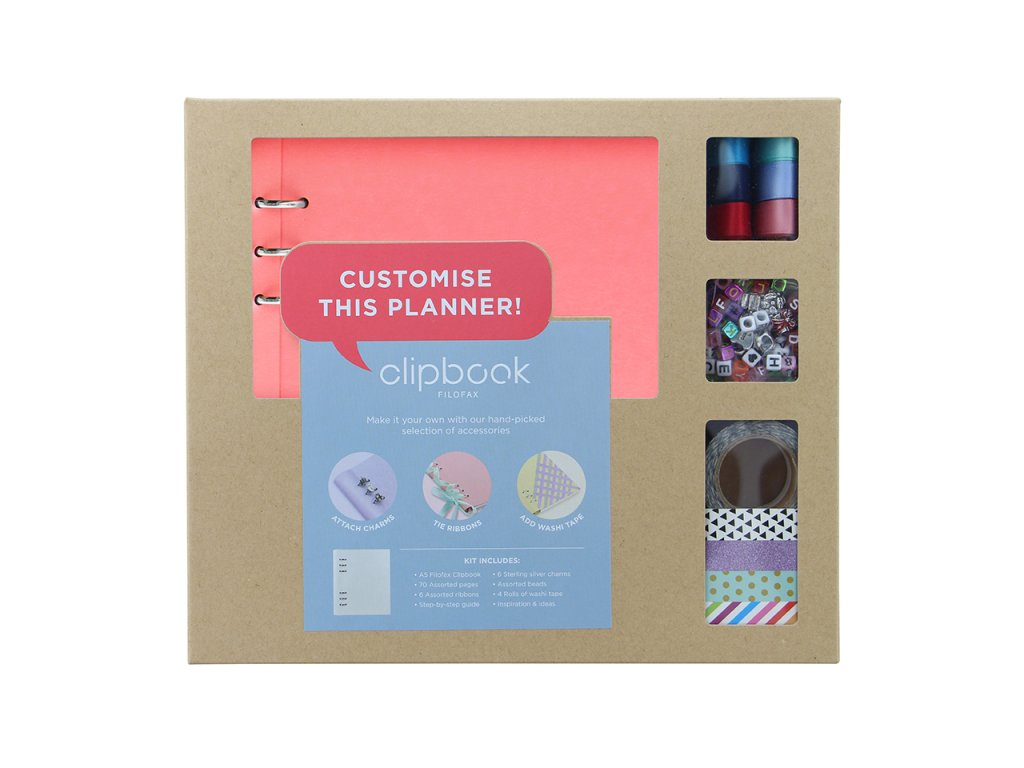 kreativni set filofax clipbook a5 pastelove ruzova 1