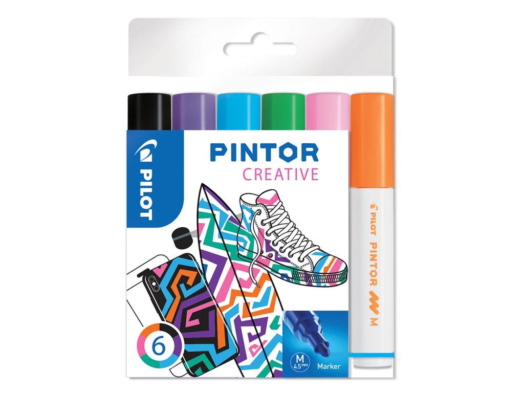 Sada 6ks dekorativních popisovačů Pilot Pintor M - Fun