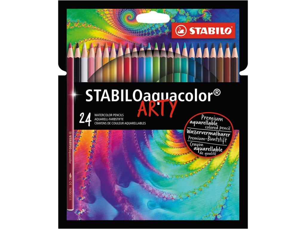 akvarelove pastelky stabilo aquacolor arty sada 24ks