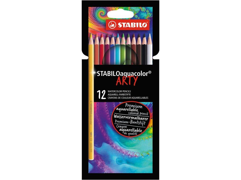 akvarelove pastelky stabilo aquacolor arty sada 12ks