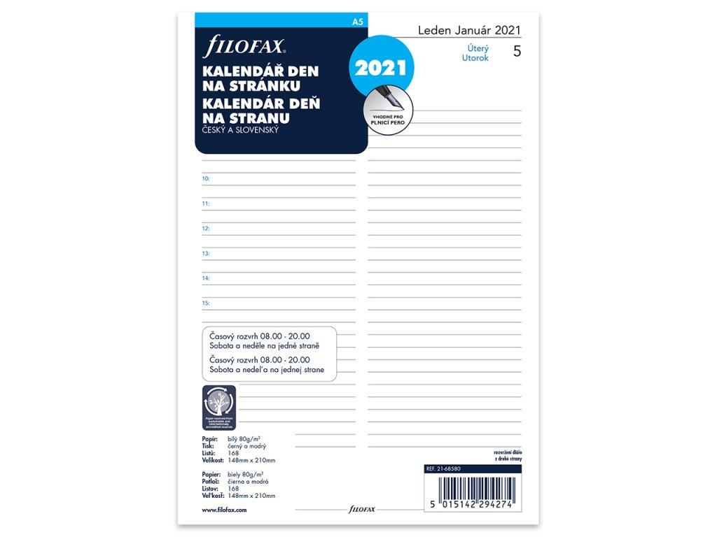 denni kalendar 2021 napln do a5 diaru filofax