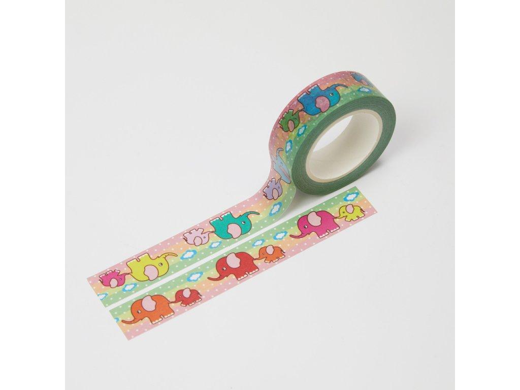 washi paska slonici paperlove