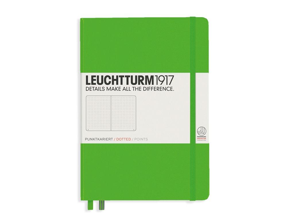 teckovany zapisnik leuchtturm1917 medium a5 fresh green