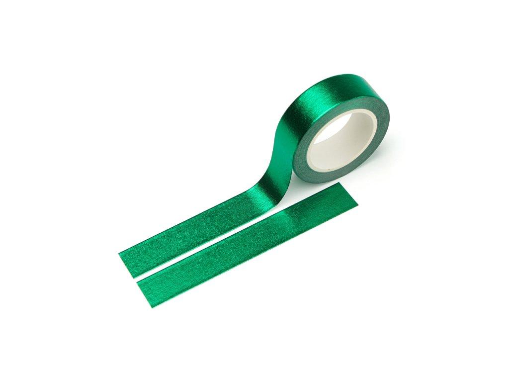 3485 washi paska metalicka zelena s