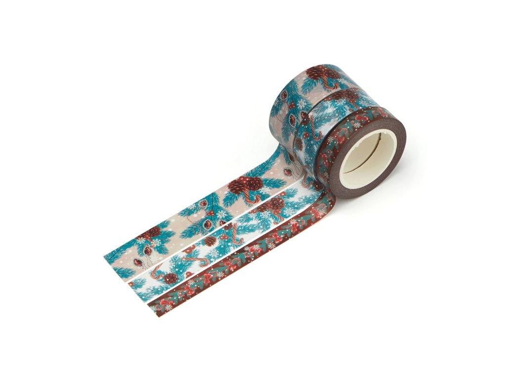 Sada 3 washi pásek - Vánoční stromeček