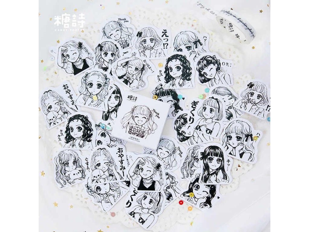 samolepky manga slecny 45ks 1