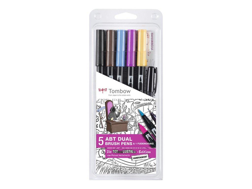 tombow dual brush pen sada 5ks 1ks fudenosuke specialni komiksova edice
