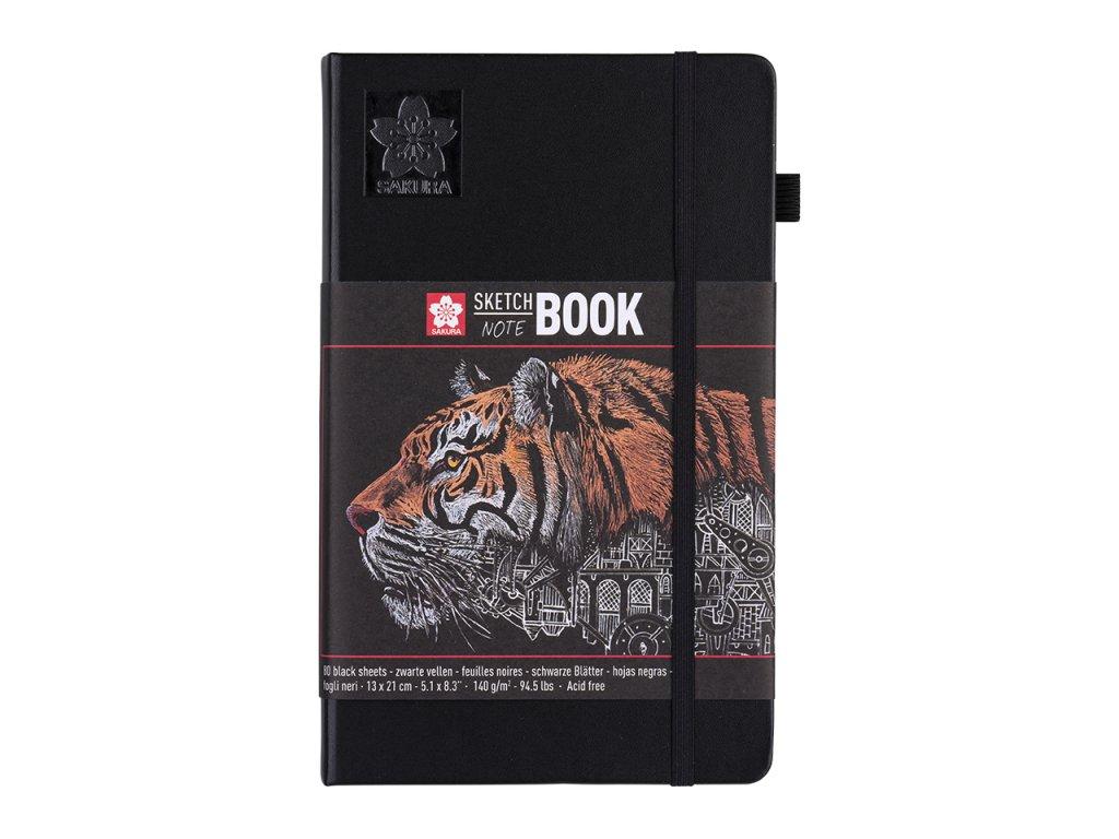 skicak sakura sketch notebook black a5 80 stran