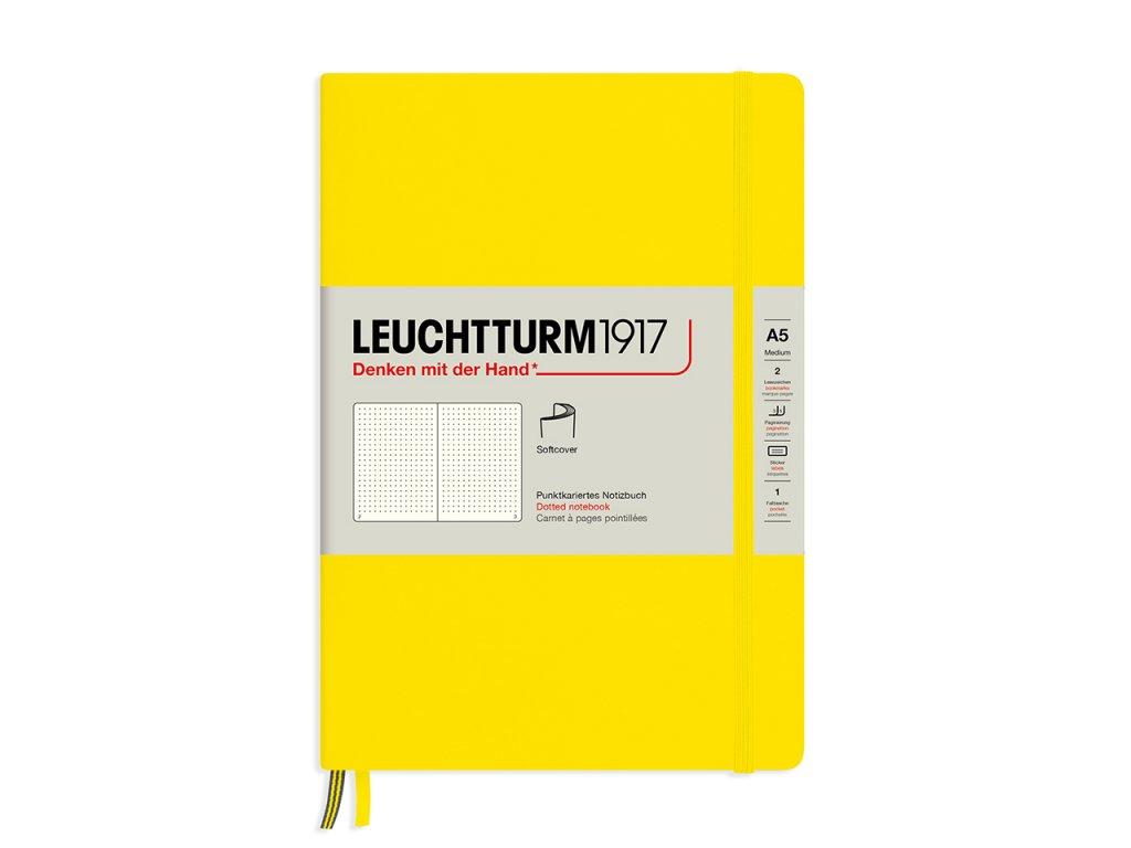 teckovany zapisnik leuchtturm1917 medium softcover lemon