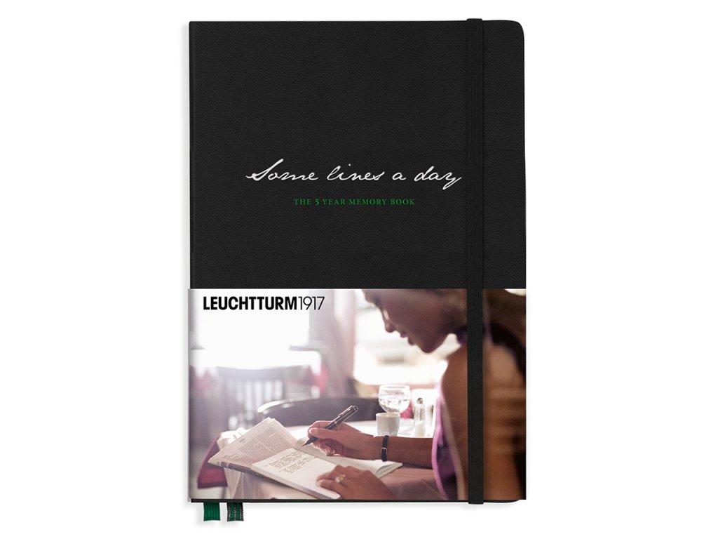 some lines a day leuchtturm1917 5 year memory book medium a5 black