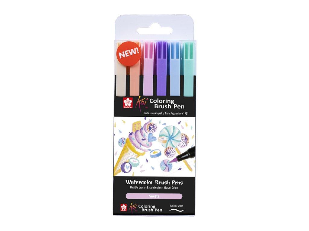 sada 6ks sakura koi coloring brush pen sweets 1